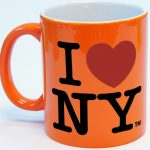 I Love NY Mug – Bright Orange