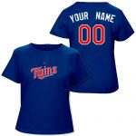 Minnesota Twins Personalized Ladies Navy T-Shirt