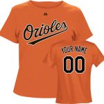 Baltimore Orioles Personalized Ladies Orange T-Shirt