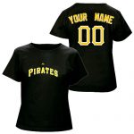 Pittsburgh Pirates Personalized Ladies Black T-Shirt