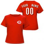 Cincinnati Reds Personalized Ladies Red T-Shirt