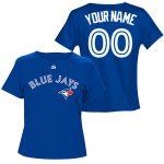 Toronto Blue Jays Personalized Ladies Royal Blue T-Shirt