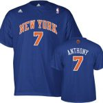 Carmelo Anthony New York Knicks Name & Number Adult Tee