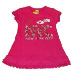 NYC Floral Fuschia Infant Mini Dress