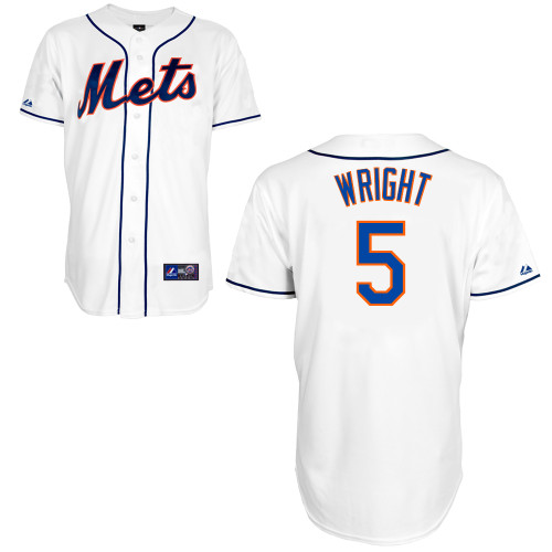 7dd01407 David Wright New York Mets Adult Replica White Alt Jersey Officially  Licensed by MLB made by Majestic 100% Polyester Cool Base Button-Down Jersey  MLB Logo ...
