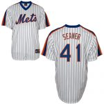 Tom Seaver Jersey – White New York Mets Cooperstown Throwback Jersey