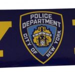 NYPD Navy Bumper Sticker