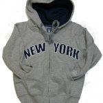 New York Kids Sweatshirt – Grey Zipper Hoodie