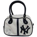 "Yankees White/Navy ""Stars"" Ladies Bowler Purse"