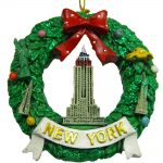 Empire State Building Wreath Ornament