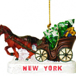 Central Park Horse and Buggy Christmas Ornament