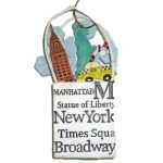 NYC Icons Shopping Bag Ornament – White