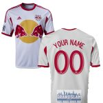 NY Red Bulls Personalized White Jersey: Replica Adult Primary Jersey