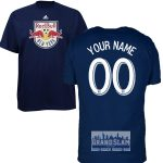 NY Red Bulls Personalized Navy Youth T-Shirt – White Lettering