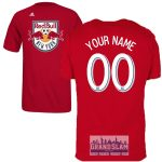 NY Red Bulls Personalized Red Youth T-Shirt – White Lettering