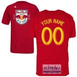 NY Red Bulls Personalized Red Adult T-Shirt – Yellow Lettering