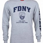 FDNY Full Chest And Sleeve LS Tee – Grey