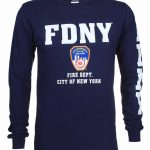 FDNY Full Chest And Sleeve LS Tee – Navy