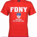 FDNY Full Chest Red Tee