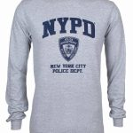 NYPD Full Chest Ash LS Tee