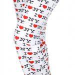 I Love NY White All-over Print Pajama Pants