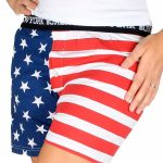 American Flag Ladies Boxer Shorts