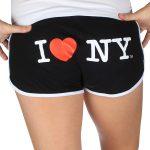 I Love NY Short Shorts – Black