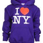 I Love NY Purple Kids Sweatshirt