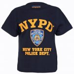 NYPD Full Chest Color Navy Kids Tee