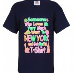 NYC Someone Who Loves Me Navy Kids T-Shirt