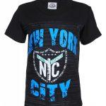 NYC Times Square Shield Black Kid's T-Shirt
