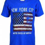 NYC Distressed Flag Blue Kids T-Shirt