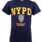 NYPD Badge Navy and Gold T-Shirt