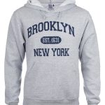 Brooklyn Est 1631 Hooded Sweatshirt – Grey