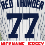 Red Thunder Ladies Jersey – Clint Frazier Yankees Womans Nickname Home Jersey