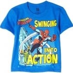 Swinging Into Action Blue Youth T-Shirt