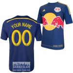 NY Red Bulls Personalized Navy Jersey: Replica Adult Away Jersey