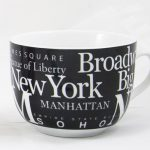 NYC Landmarks Porcelain Soup Mug – Black