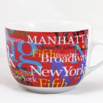 NYC Hotspots Porcelain Soup Mug – Red