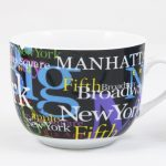 NYC Hotspots Porcelain Soup Mug – Black