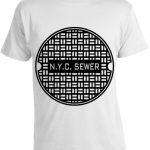 NYC Sewer T-shirt -White
