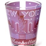 NYC Manhattan Starry Night Shot Glass – Pink
