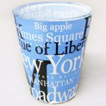 NYC Landmarks Blue Shot Glass
