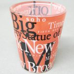 NYC Landmarks Orange Shot Glass