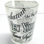 NYC Floral Landmarks Shot Glass – White