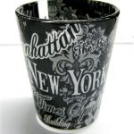 NYC Floral Landmarks Shot Glass – Black