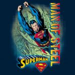 "Vert ""Man Of Steel"" Black Kids T-Shirt"