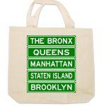 NY Street Signs Canvas Tote Bag