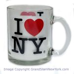 I Love NY Glass 11oz Mug