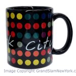 NYC Polka Dots 11oz Mug – Black